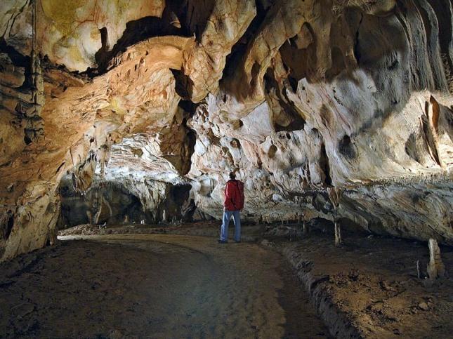útroby jaskyne Domica